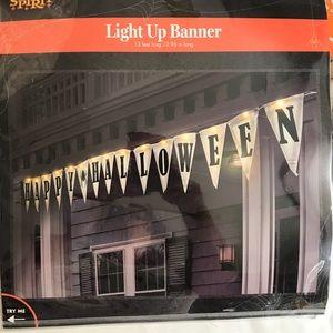 Happy Halloween LightUp Banner